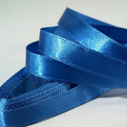 stuha atlasová/ 6mm/ modrá střední / 1m
