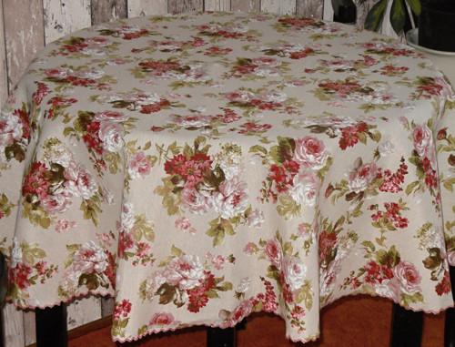 ubrus -anglické růže-kulatý-140