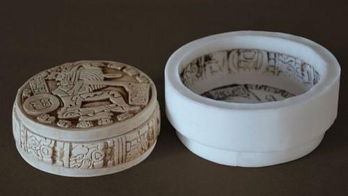 Forma na svíčky Kruh Mayský kalendář- průměr 12cm