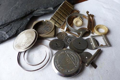 Ozubená kolečka 62..vintage materiál pro steampunk