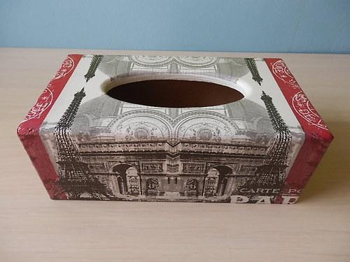 Krabička na kapesníky Paříž