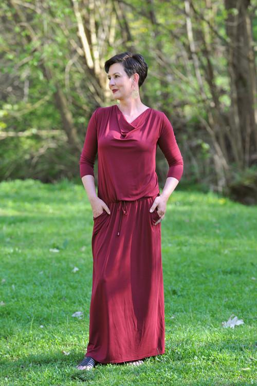 BOHO šaty pro dámy - tmavě červené