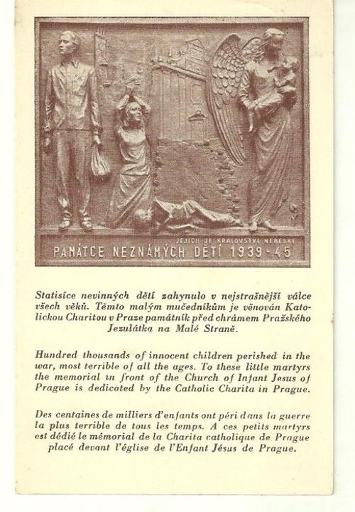 Umělecká pohlednice plastika A.Q.Adamec Relief