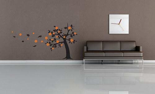 Strom s listím - samolepka na zeď