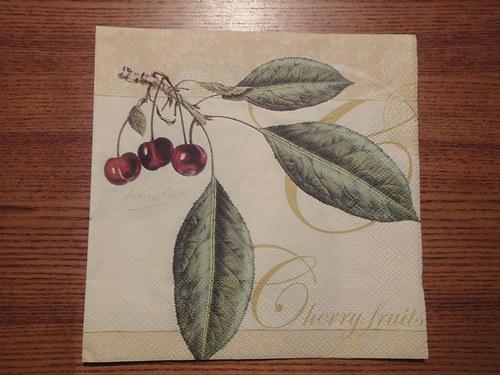 Ubrousek na decoupage - třešně