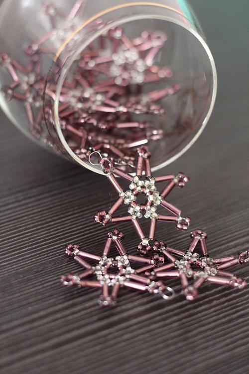 Set fialových minihvězdiček