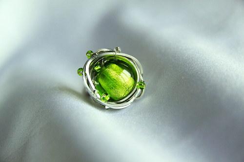 Fenix - prsten zelený