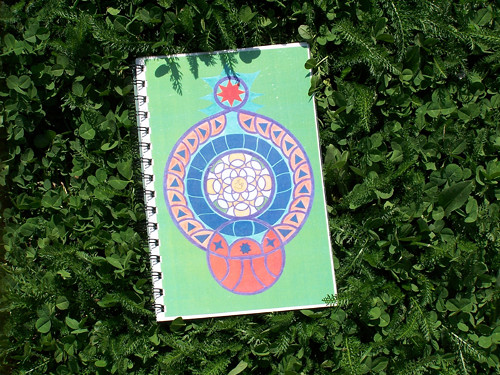 Síla ve světle - zápisník A5 s mandalou