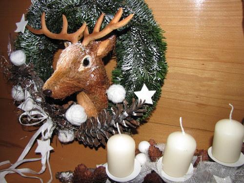 Vánoce v lese -zasněžený