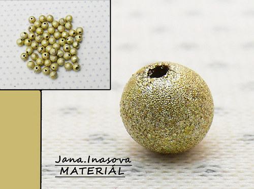 """Akrylové korálky \""""perleťovo zlaté\"""" 10 ks"""