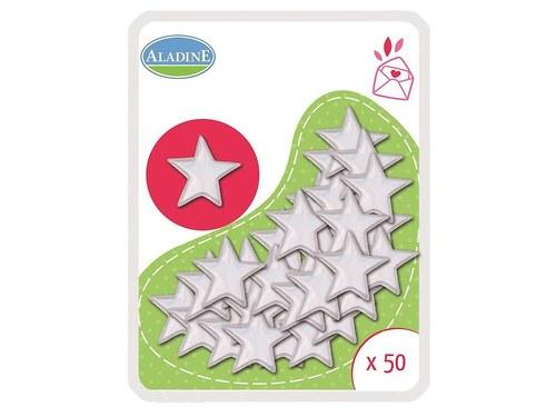 OZDOBNÉ NÝTKY -  Hřebíčky, 50 ks, hvězdy