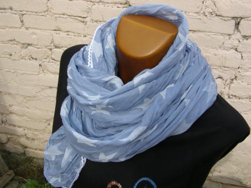 Hedvábný šátek hvězdičkový