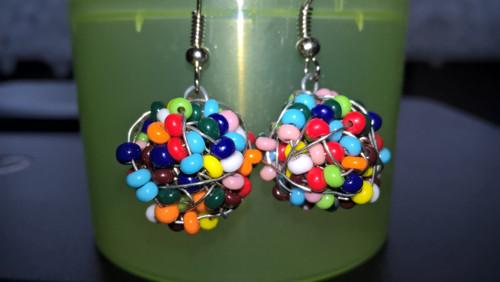 drátěné koule barevné(podle přání barva)