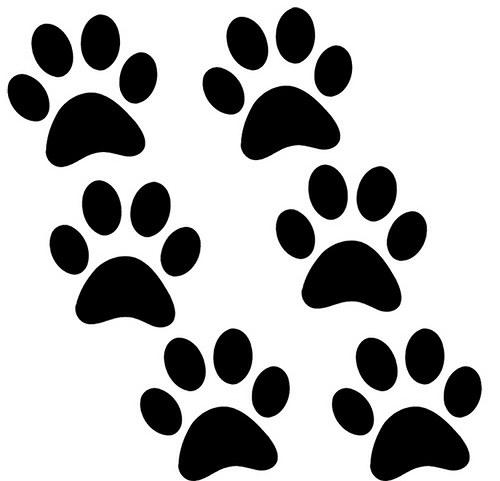 kočičí tlapky (6ks) - samolepky 7 x 7cm