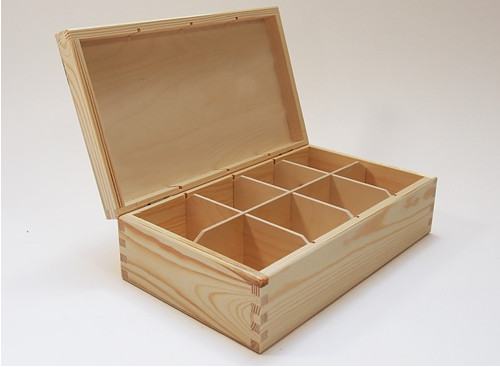 Krabička na čaj - 8 komor BZ(PHU-CAJOVKA-BZ)