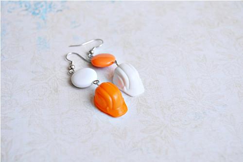 Bílo - oranžové pracovní