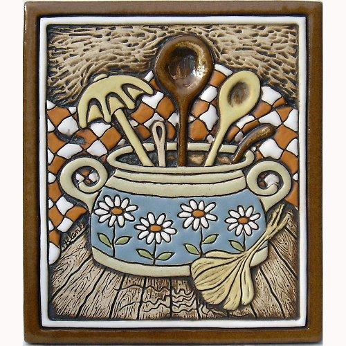 Keramický obrázek - Vařečky K-122-N