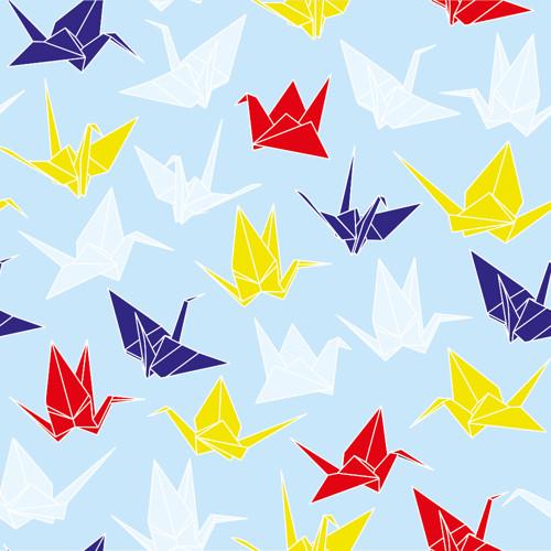 Tapeta Origami / modrý podklad