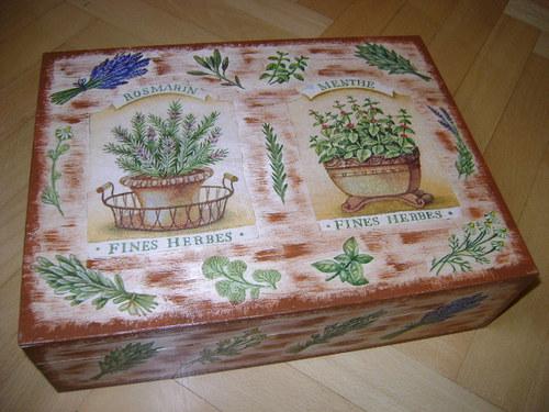 Čajová krabice bylinková