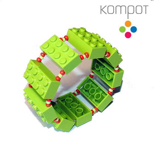 LEGO náramek :: pistáciový