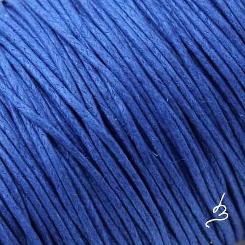 Bavlněná šňůrka 1 mm modrá TM