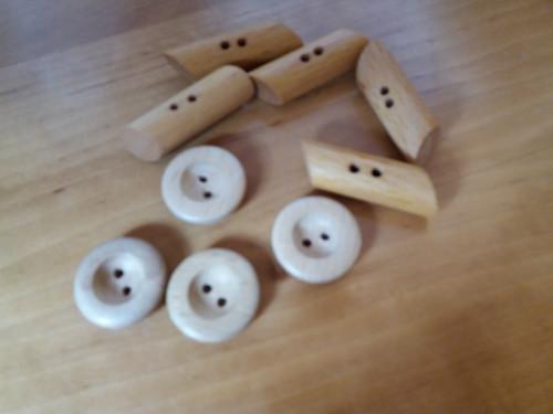 Knoflíky dřevěné - z nevyužitých přebytků