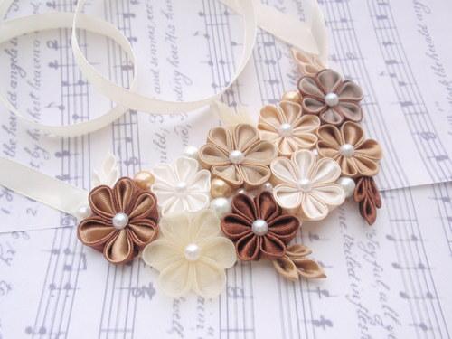 brown Beige náhrdelník