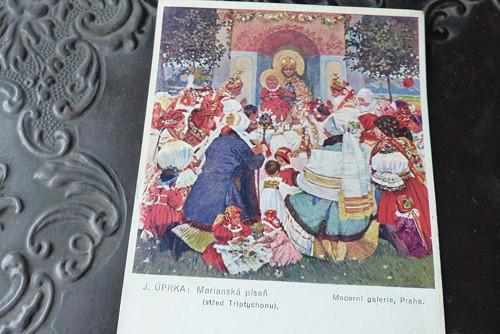 Joža Úprka - Mariánská píseň..stará pohlednice
