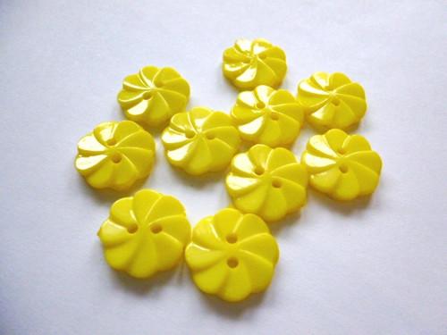 Knoflíčky kytičky žluté 5ks