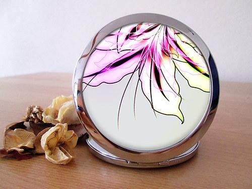 Kapesní zrcátko - Magic Flower