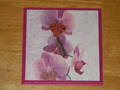 Obrázek na MDF destičce Orchidej VII