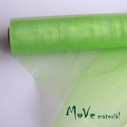 organza hráškově zelená š. 37 cm/ 1m