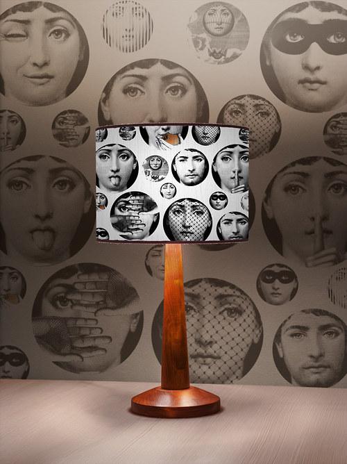 Stínítko na lampu Obličej - stolní/stropní
