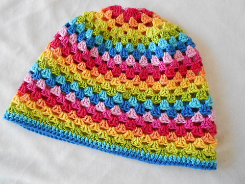 háčkovaná duhová čepice  *** rainbow***