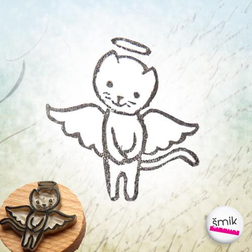 andělská kočička – razítko