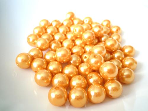 Akrylové perly oranžové 10 mm - 20 ks