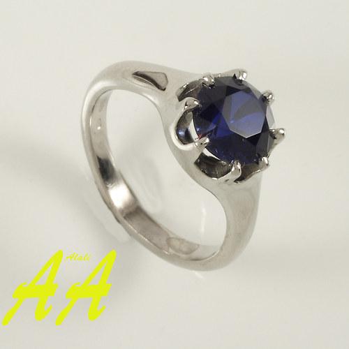 Prsten - korunka modrá
