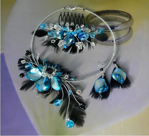 oděná v tyrkysu-sada šperků