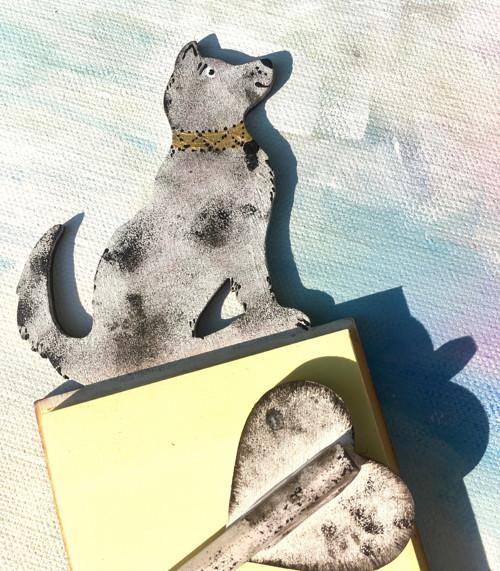 Dřevěné bločky s tužkou - Pes