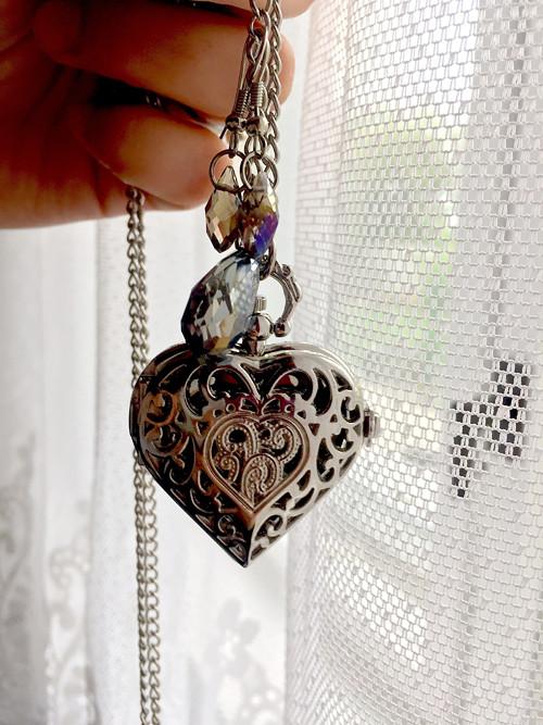 Otevírací hodinky srdce, naušnice swarovski kapka