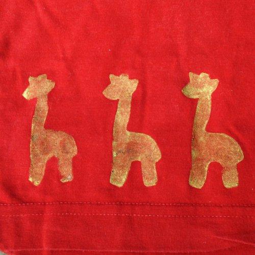Červené s žirafkami