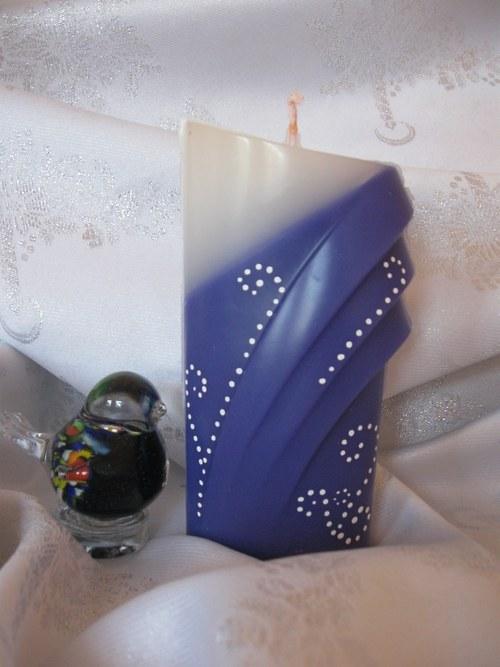 Svíčka archa - modrobílá