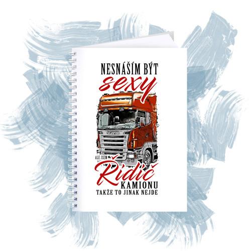 Zápisník s motivem - Sexy řidič kamionu 2