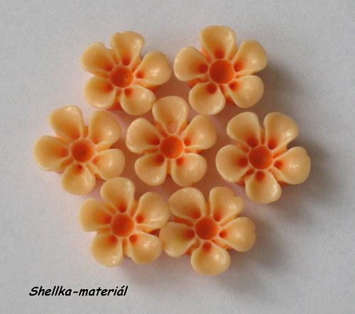 130.Kabošon oranžový 13mm-2 kusy