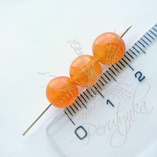 Kuličky 8 mm, 15 ks, barva oranžová