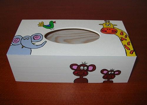 Krabička na kapesníky- zvířátková