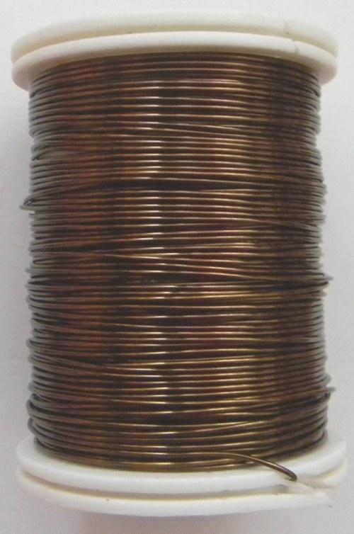 Měděný lakovaný drát 0,8 mm hnědý