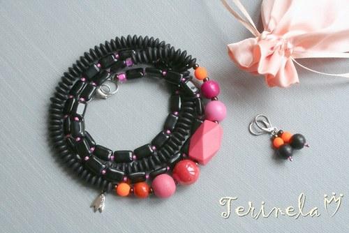 Dlouhý náhrdelník + náušnice © Glamour ...