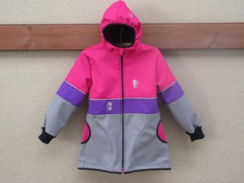Softshellový kabátek - rub fleec vel.98/104