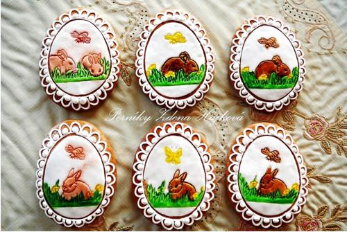 Velikonoční kraslice se zajíčkem